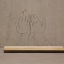 Hands supplicated 51x36x14